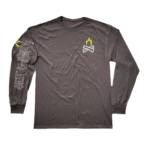 Get Gnarly Bonfire Long Sleeve T-Shirt-T-Shirts-Get Gnarly
