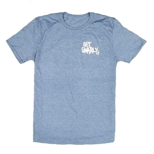 Get Gnarly Core Logo T-Shirt Heather Indigo Blue-T-Shirts-Get Gnarly
