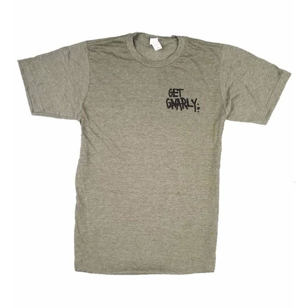 Get Gnarly Core Logo T-Shirt Heather Military Green-T-Shirts-Get Gnarly