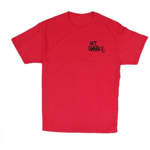 Get Gnarly Core Logo T-Shirt Red-T-Shirts-Get Gnarly