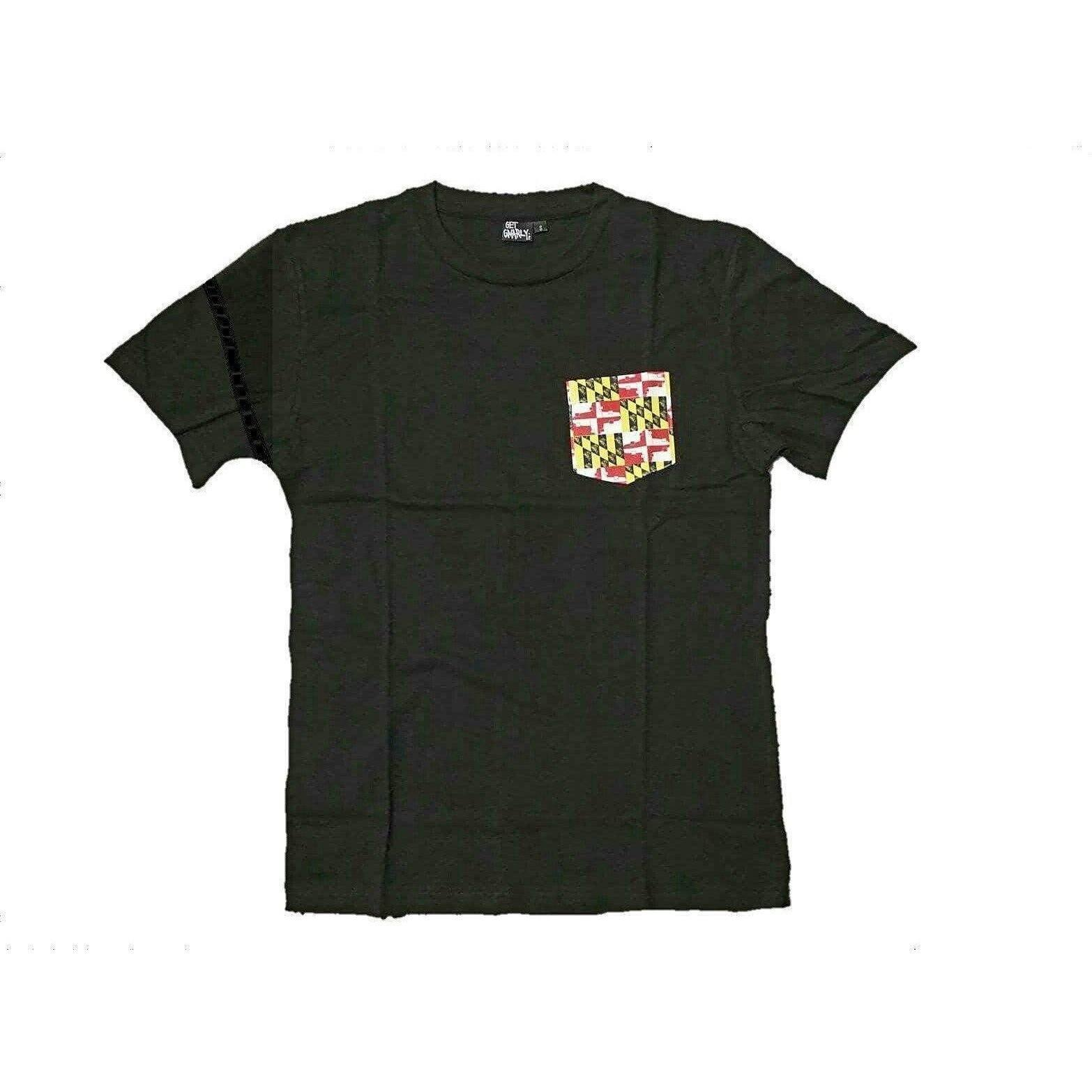 Get Gnarly Maryland Skate Flag Pocket T-Shirt-T-Shirts-Get Gnarly