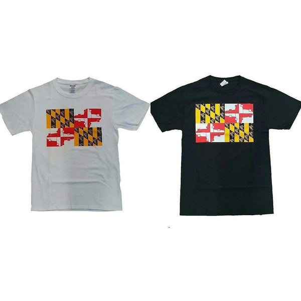 Maryland Skate Flag Tee White-T-Shirts-Get Gnarly