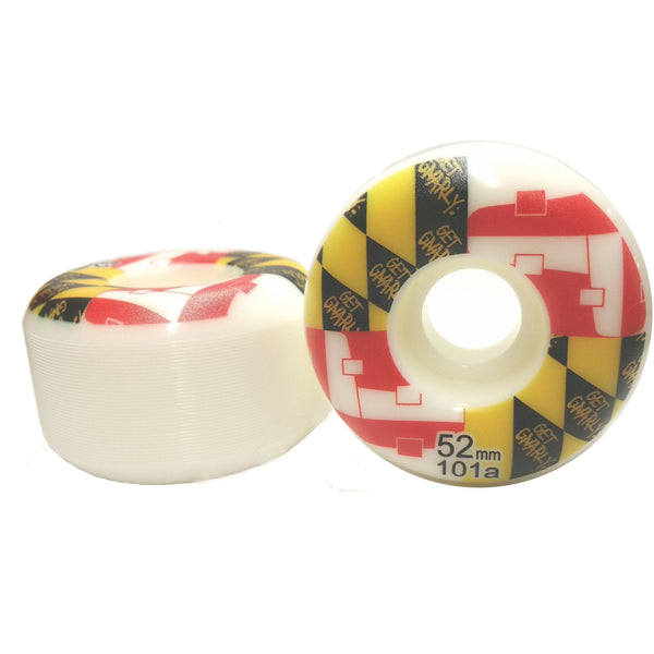 Get Gnarly Maryland Skate Flag 52mm Wheels-Wheel-Get Gnarly