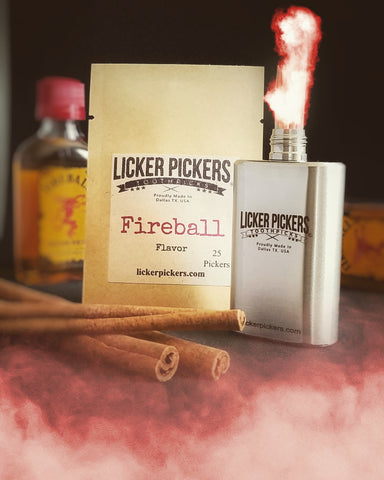 FIREBALL TOOTHPICKS - Licker Pickers Toothpicks