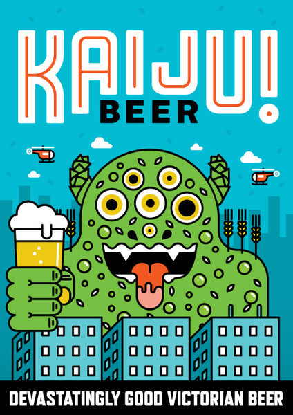 Poster: KAIJU! Beer - OUT OF STOCK
