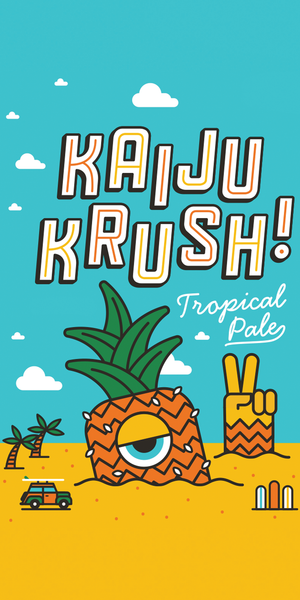 Beach Towel: KAIJU KRUSH!
