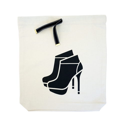 Heeled bootie bag