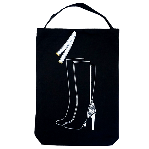 High heeled long boots bag