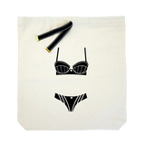 Striped lingerie bag