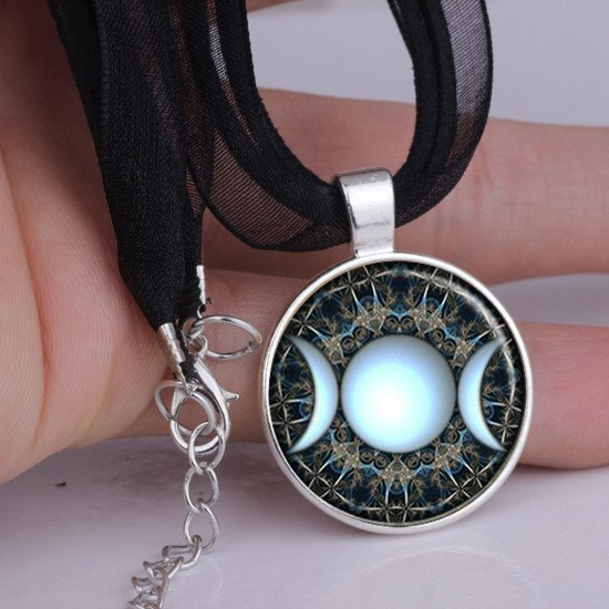 jewelry amulet retro for necklace spiritual religious product women vintage pendant tibet men mandala geometry