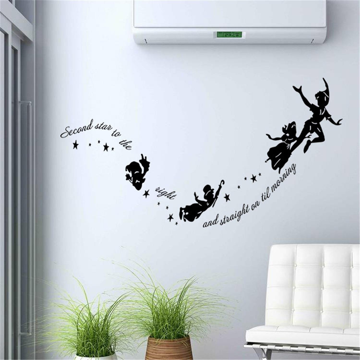 Tinkerbell Weu0027re Off To Neverland Wall Decal Cute Anime Wall Sticker ...