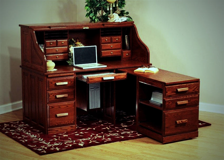 Looking At Oak Roll Top Desks The Office Furniture Depot