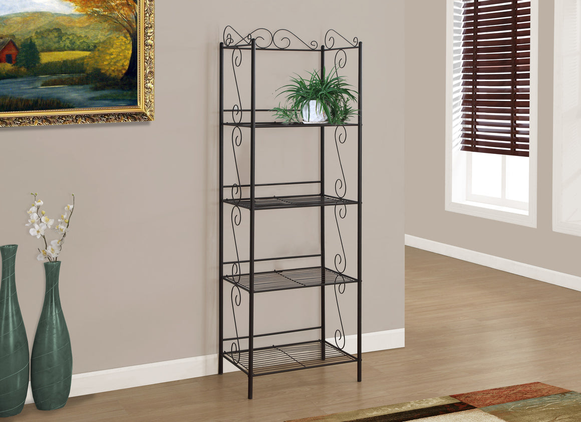 "70""H Copper Metal Etagere Bookcase by Monarch Specialties - TheOfficeFurnitureDepot"