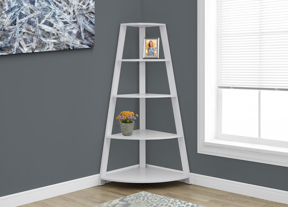 "60""H Corner Accent Etagere Bookcase - TheOfficeFurnitureDepot"