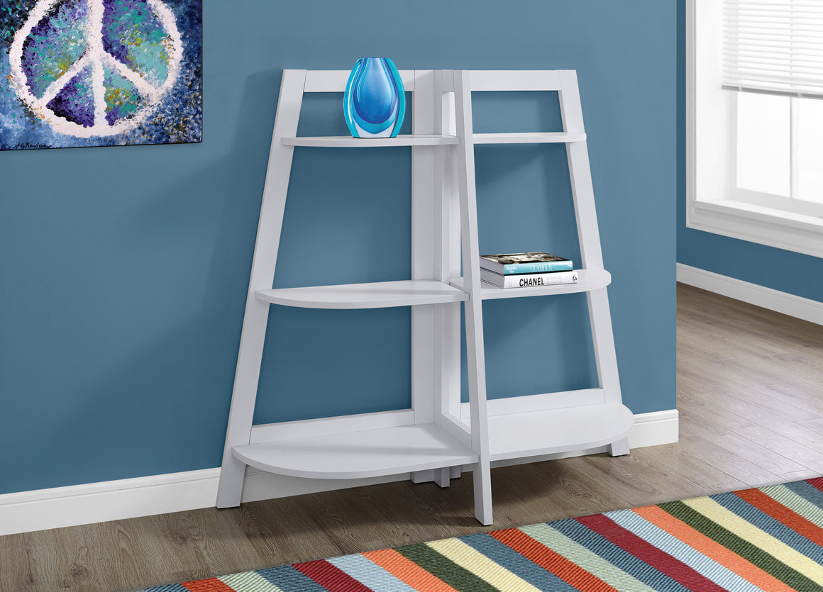 "48""H White Accent Etagere Bookcase by Monarch Specialties - TheOfficeFurnitureDepot"