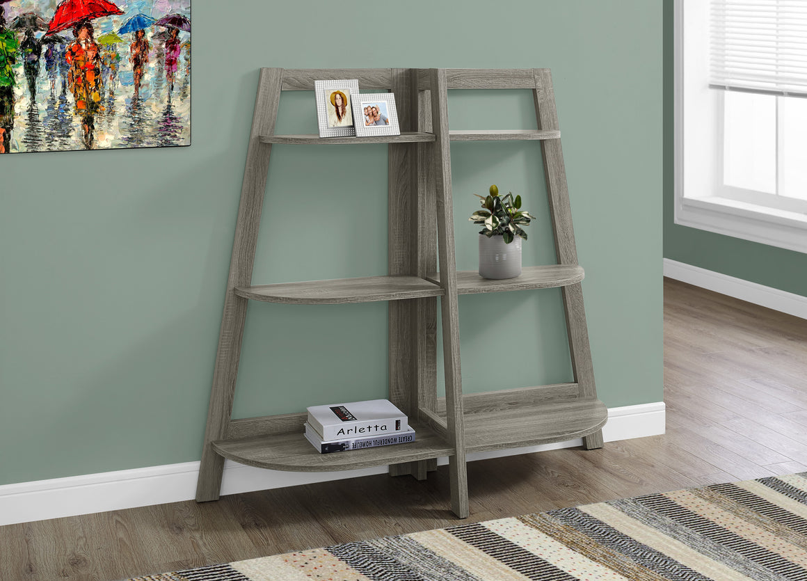 "48""H Dark Accent Etagere Bookcase by Monarch Specialties - TheOfficeFurnitureDepot"