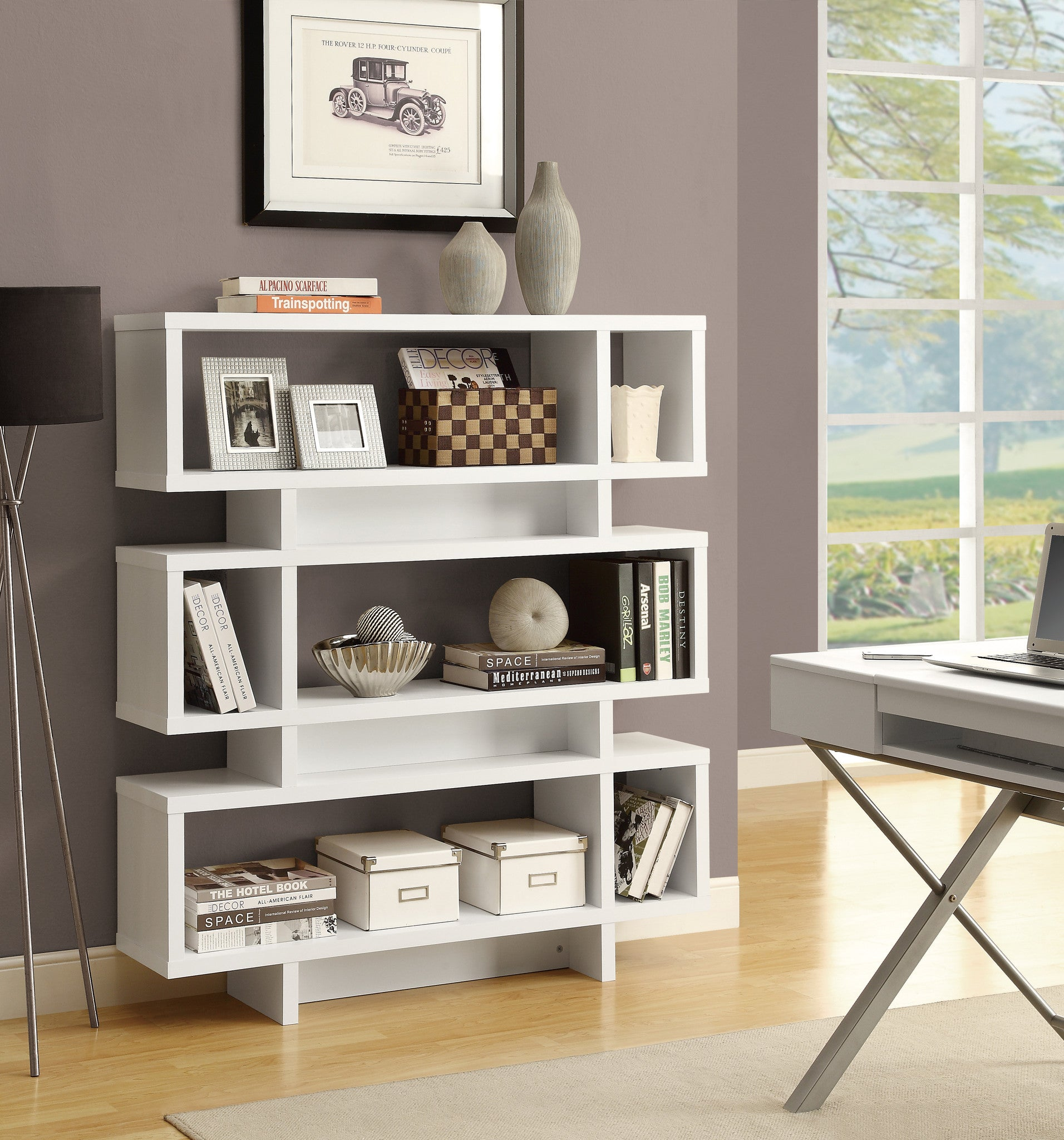 cdi bookcase furniture bookcases p modern industrial bookshelf