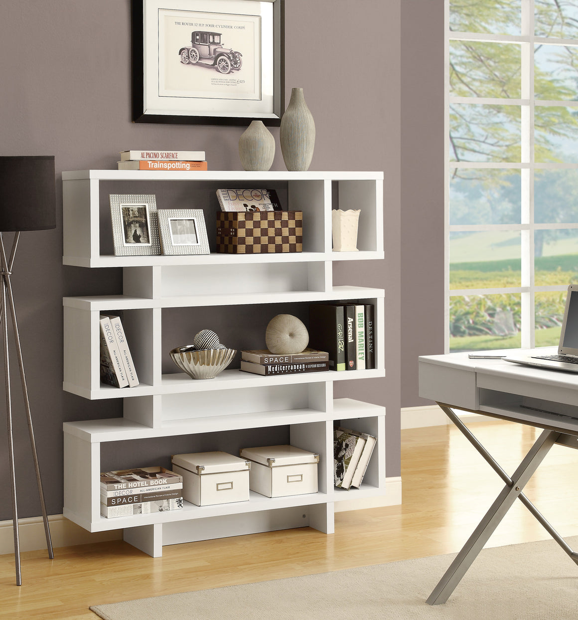 "55""H Modern Style Bookcase - TheOfficeFurnitureDepot"