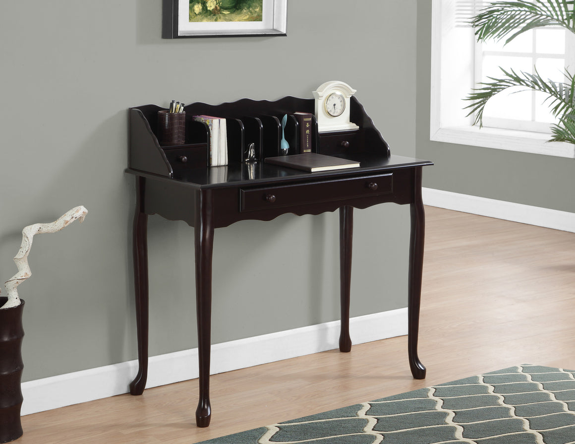 "36""L Dark Cherry Traditional Desk by Monarch Specialties Inc. - TheOfficeFurnitureDepot"