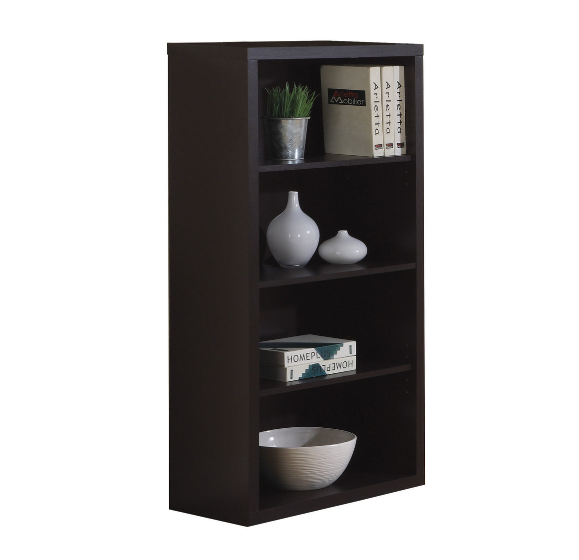 "48""H Cappuccino Bookcase with Adjustable Shelves - TheOfficeFurnitureDepot"