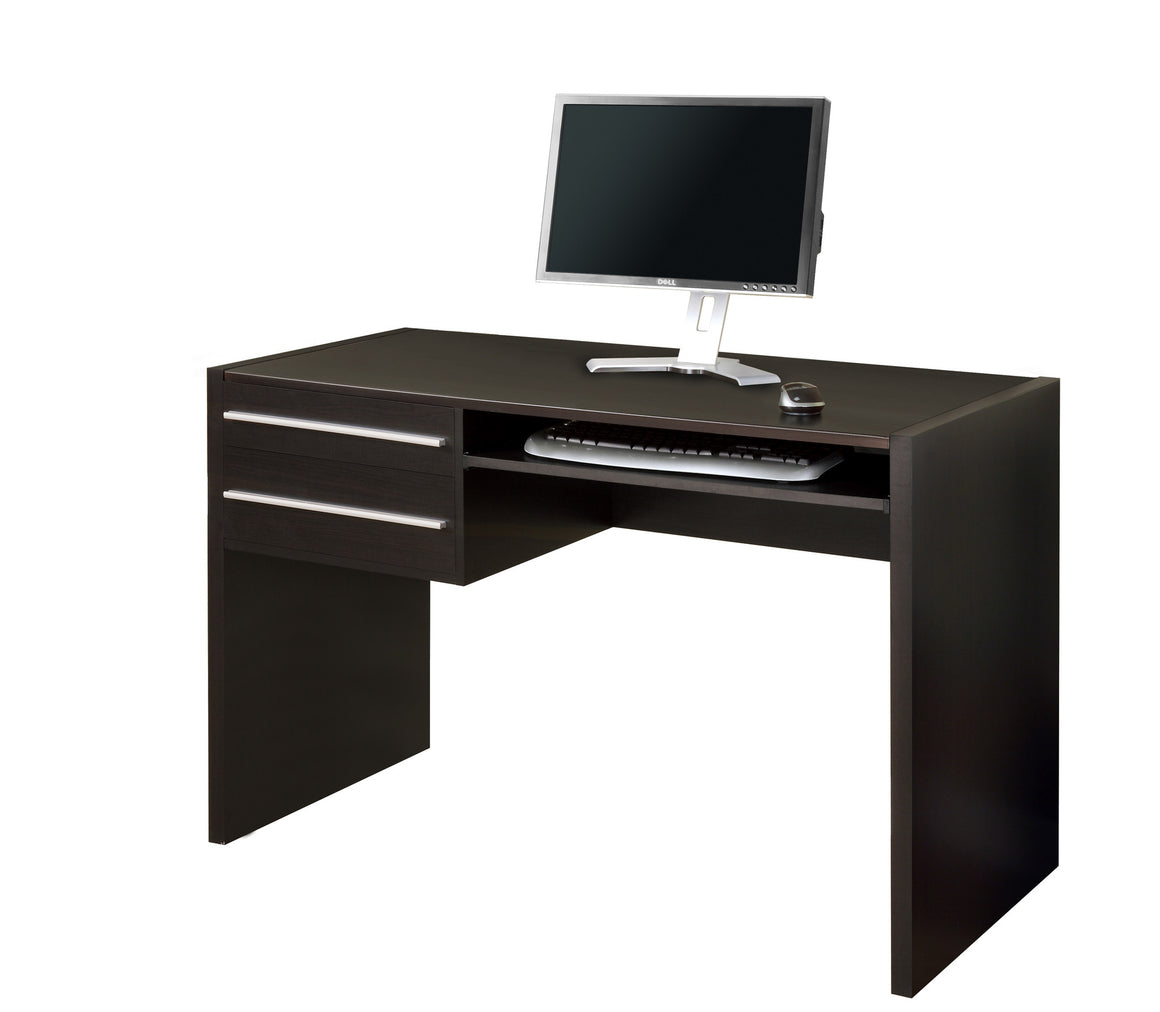 "48""L Cappuccino Computer Desk / Drawers / Pull-out Space by Monarch Specialties Inc. - White Background - The Office Furniture Depot"