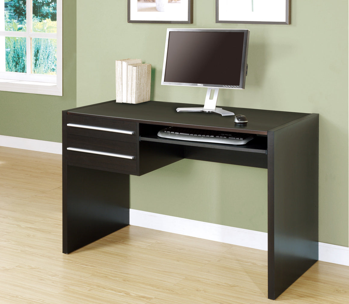 "48""L Cappuccino Computer Desk / Drawers / Pull-out Space by Monarch Specialties Inc. - The Office Furniture Depot"