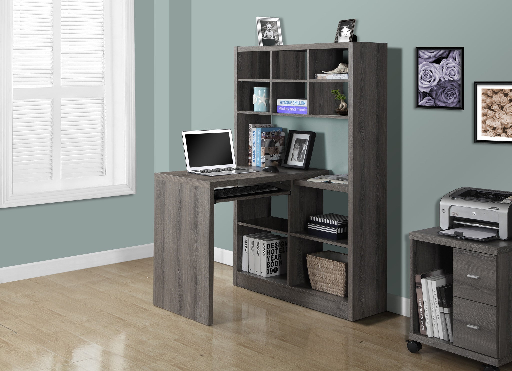 bookcase with home office itm best shelf choice leaning computer products furniture desk wood