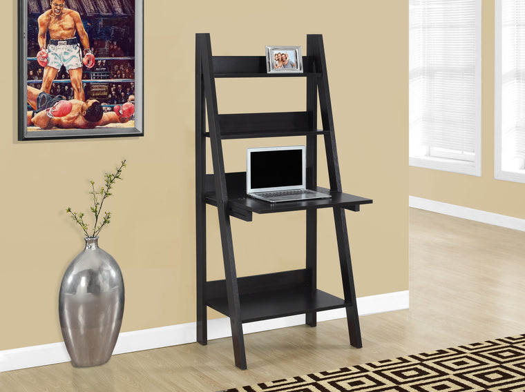 "61""H Cappuccino Ladder Style Computer Desk - TheOfficeFurnitureDepot"