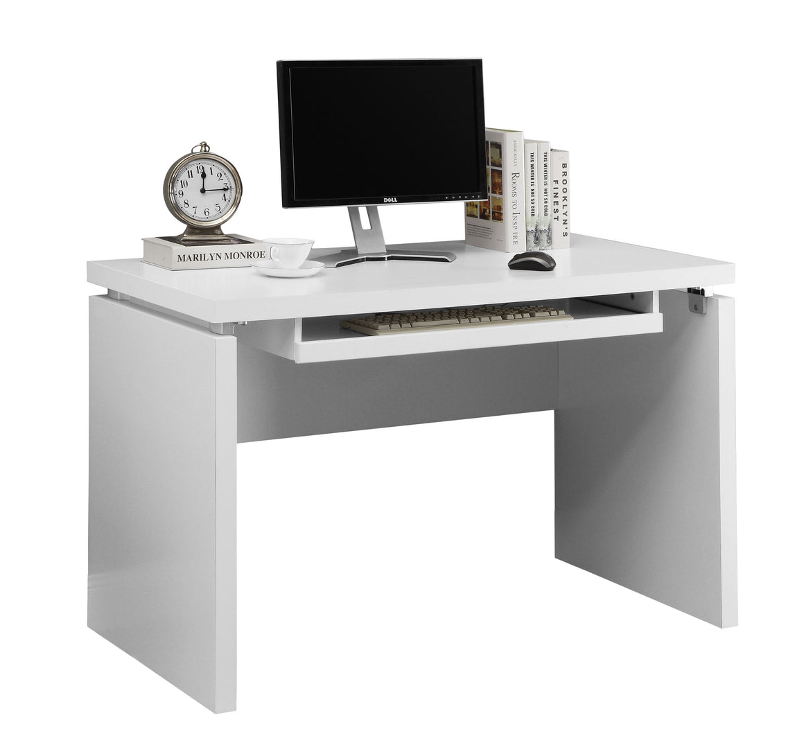 "48""L White Computer Desk / Pull-out Space - TheOfficeFurnitureDepot"