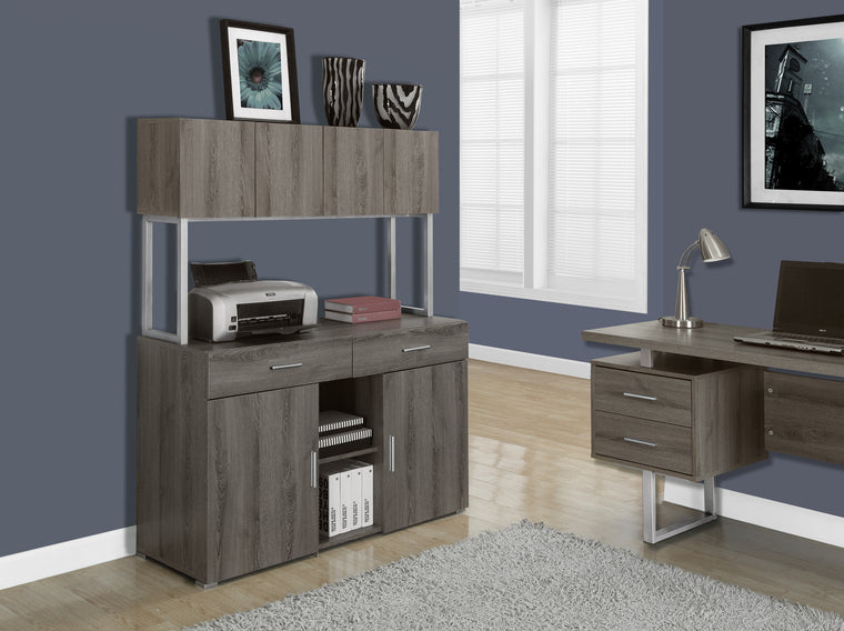 "48""L Dark Taupe Storage Credenza - TheOfficeFurnitureDepot"