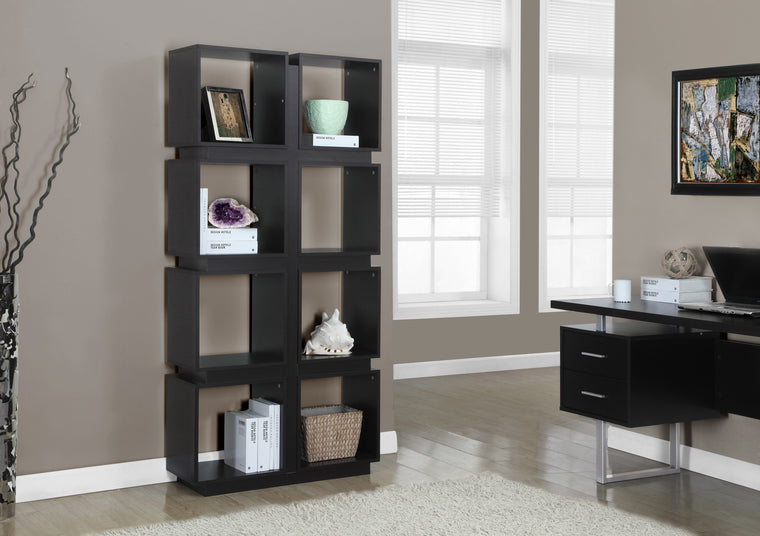 "71""H Cappuccino Bookcase - TheOfficeFurnitureDepot"