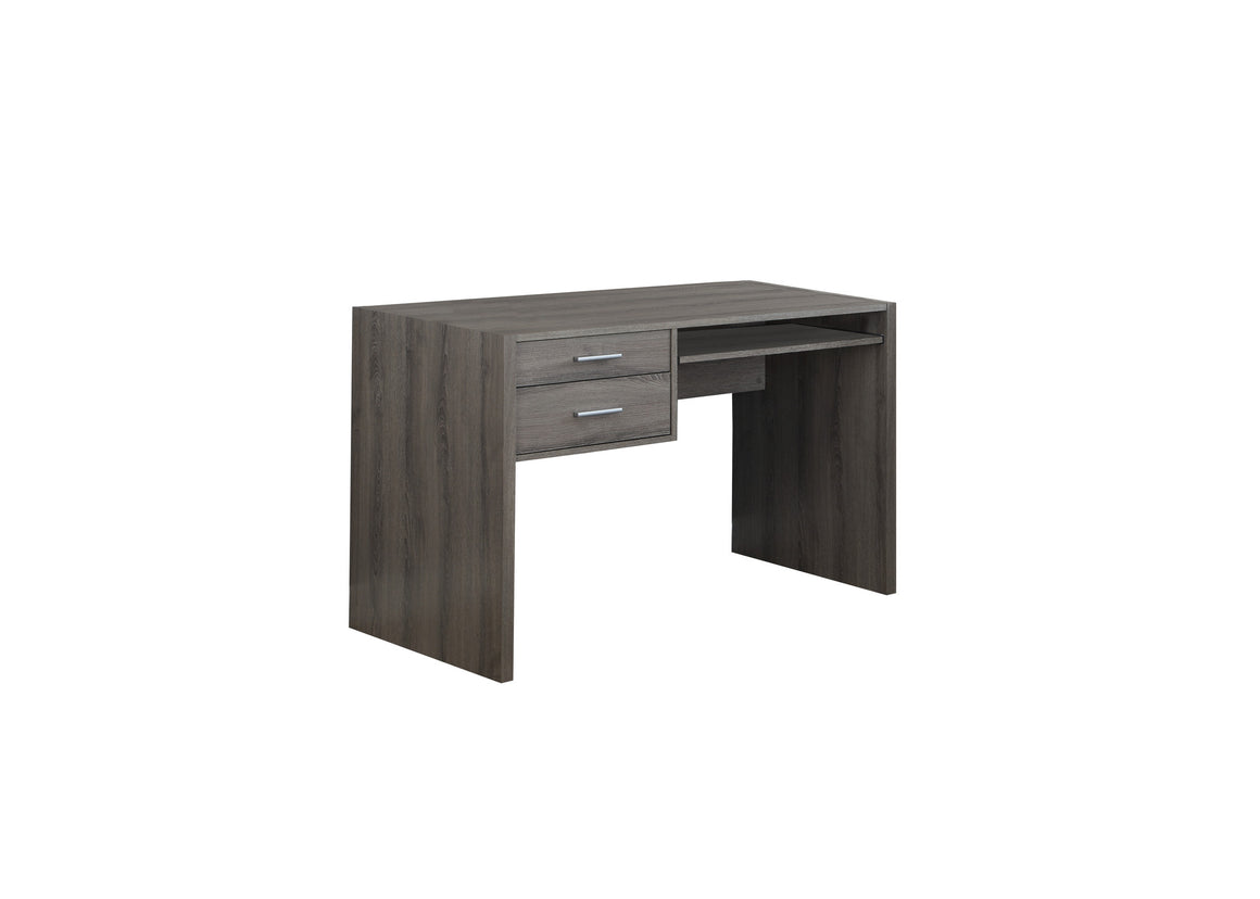 "48""L Dark Taupe Computer Desk / Drawers / Pull-out Tray - TheOfficeFurnitureDepot"