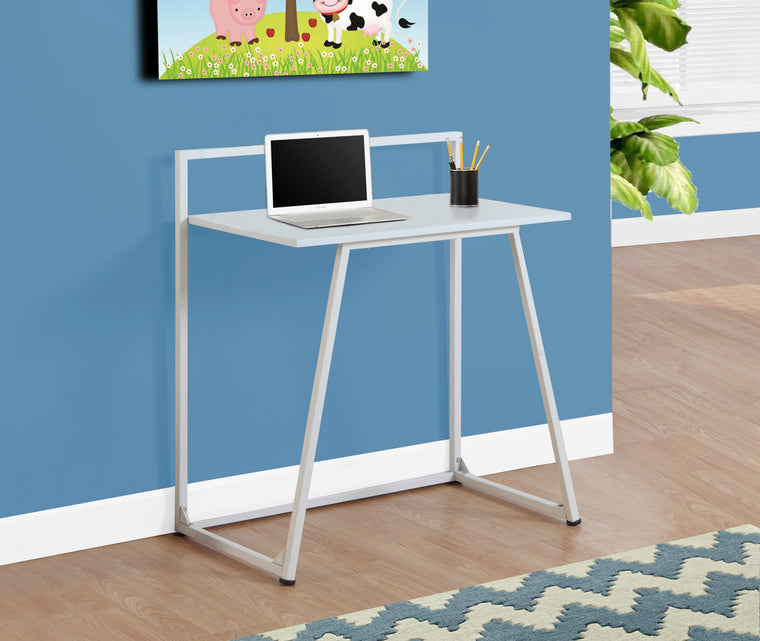 "30""L White / White Metal Juvenile Computer Desk by Monarch Specialties Inc. - The Office Furniture Depot"