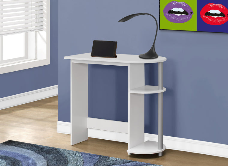 "32""L White Juvenile Computer Desk by Monarch Specialties Inc. - The Office Furniture Depot"