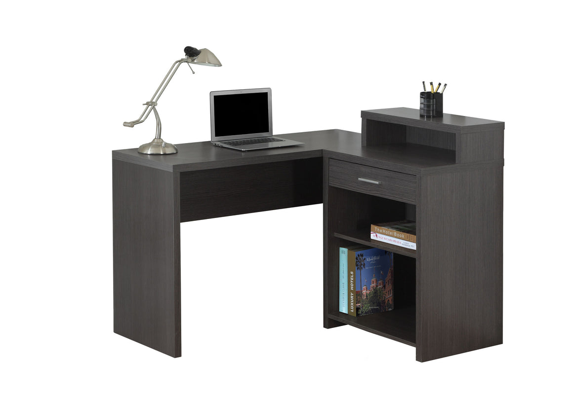Corner Grey Computer Desk with Storage - TheOfficeFurnitureDepot