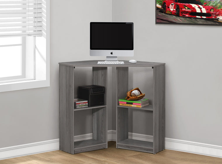 "36""L Grey Juvenile Corner Computer Desk - TheOfficeFurnitureDepot"