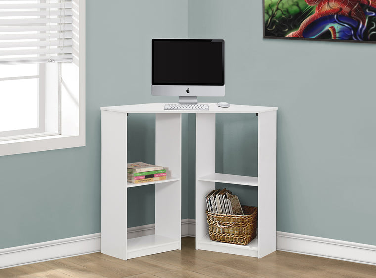 "36""L White Juvenile Corner Computer Desk by Monarch Specialties Inc. - The Office Furniture Depot"