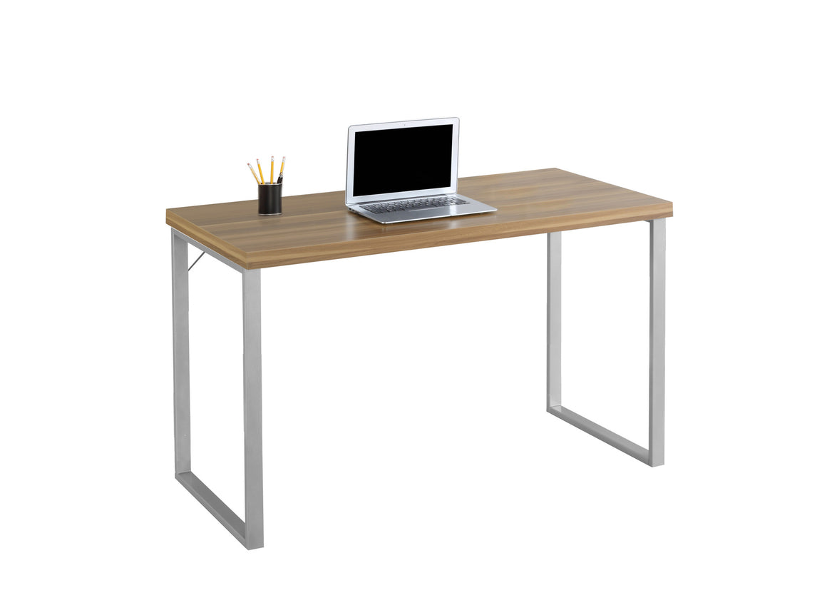 "48""L Computer Desk / Silver Metal Legs - TheOfficeFurnitureDepot"