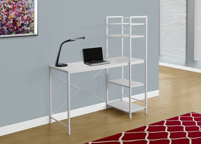 "48""L White Top / White Metal Computer Desk - TheOfficeFurnitureDepot"