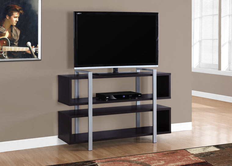 "48""L X 32""H Cappuccino Bookcase And TV Stand by Monarch Specialties Inc. - The Office Furniture Depot"