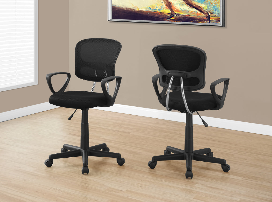 Black Mesh Juvenile Office Chair / Multi-Position by Monarch Specialties Inc. - The Office Furniture Depot