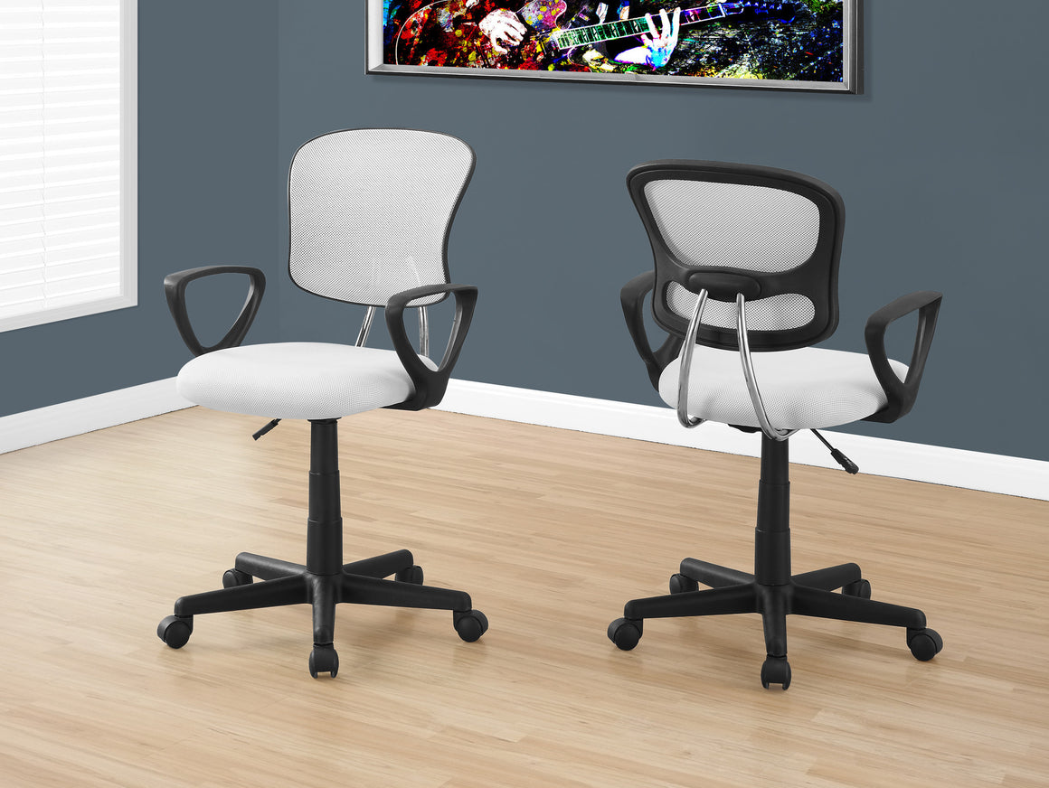 White Mesh Juvenile Office Chair / Multi-Position by Monarch Specialties Inc. - The Office Furniture Depot