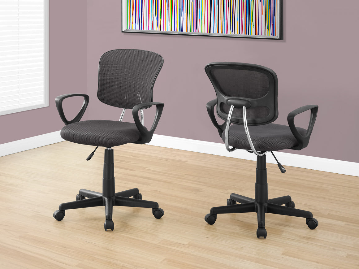 Grey Mesh Juvenile Office Chair / Multi-Position by Monarch Specialties Inc. - The Office Furniture Depot