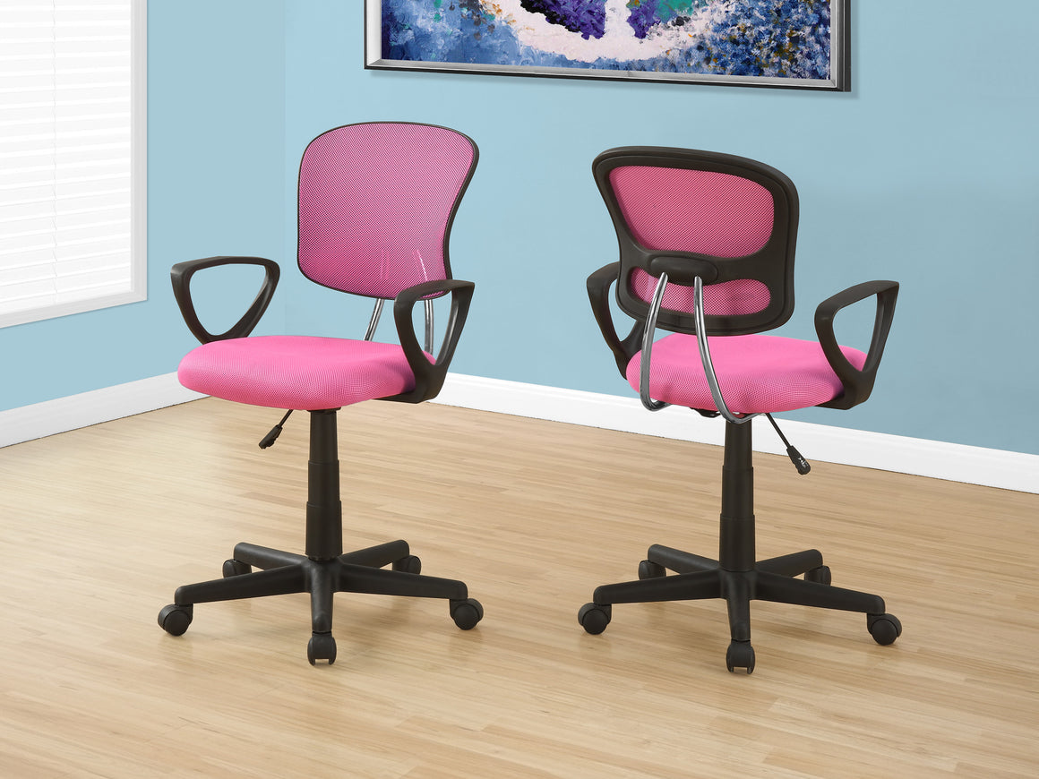Pink Mesh Juvenile Office Chair / Multi-Position by Monarch Specialties Inc. - The Office Furniture Depot