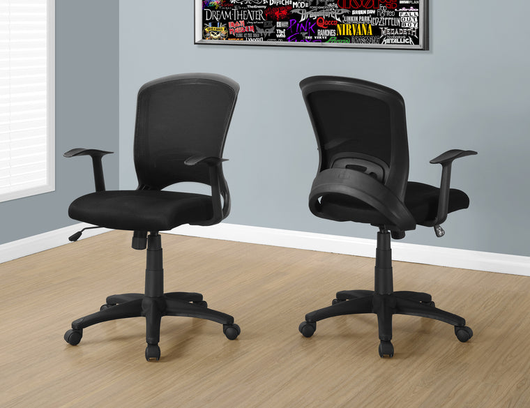 Black Mesh Mid-Back Office Chair / Multi-Position by Monarch Specialties Inc. - The Office Furniture Depot