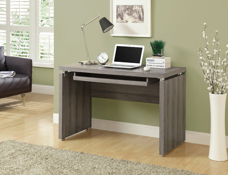 "48""L Dark Taupe Computer Desk / Pull-out Tray - TheOfficeFurnitureDepot"