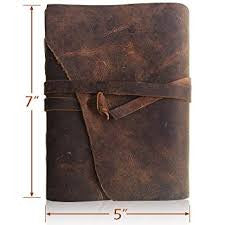 Antique Handmade Leather Bound Journal - TheOfficeFurnitureDepot