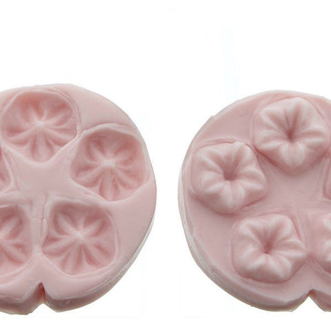 5 Flower Press Mold in White