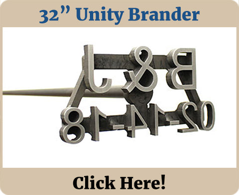 Custom Wedding Unity Branding Iron