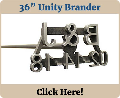 36 in Custom Wedding Unity Brander